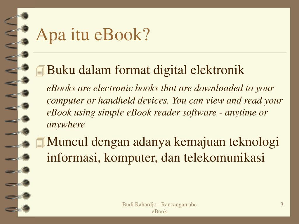 Apa itu eBook?