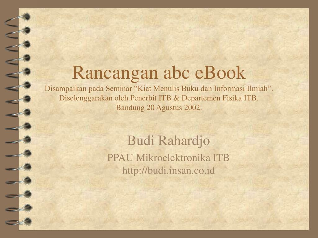 Rancangan abc eBook