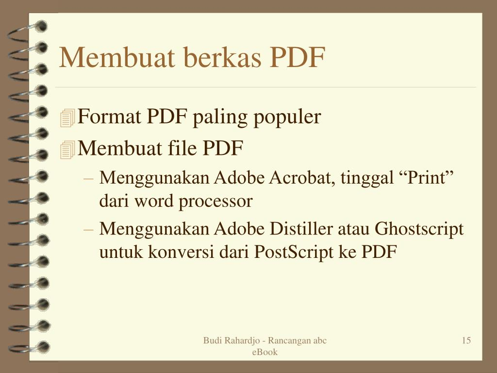 Membuat berkas PDF