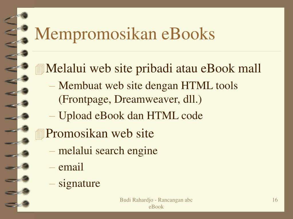 Mempromosikan eBooks