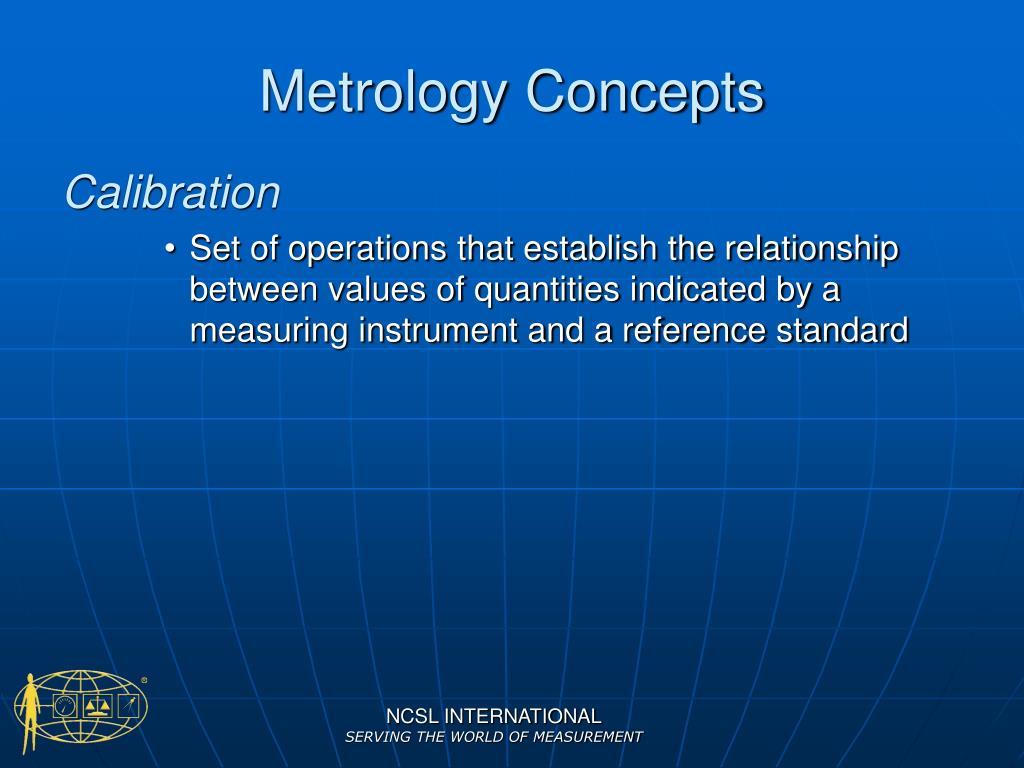Metrology Concepts