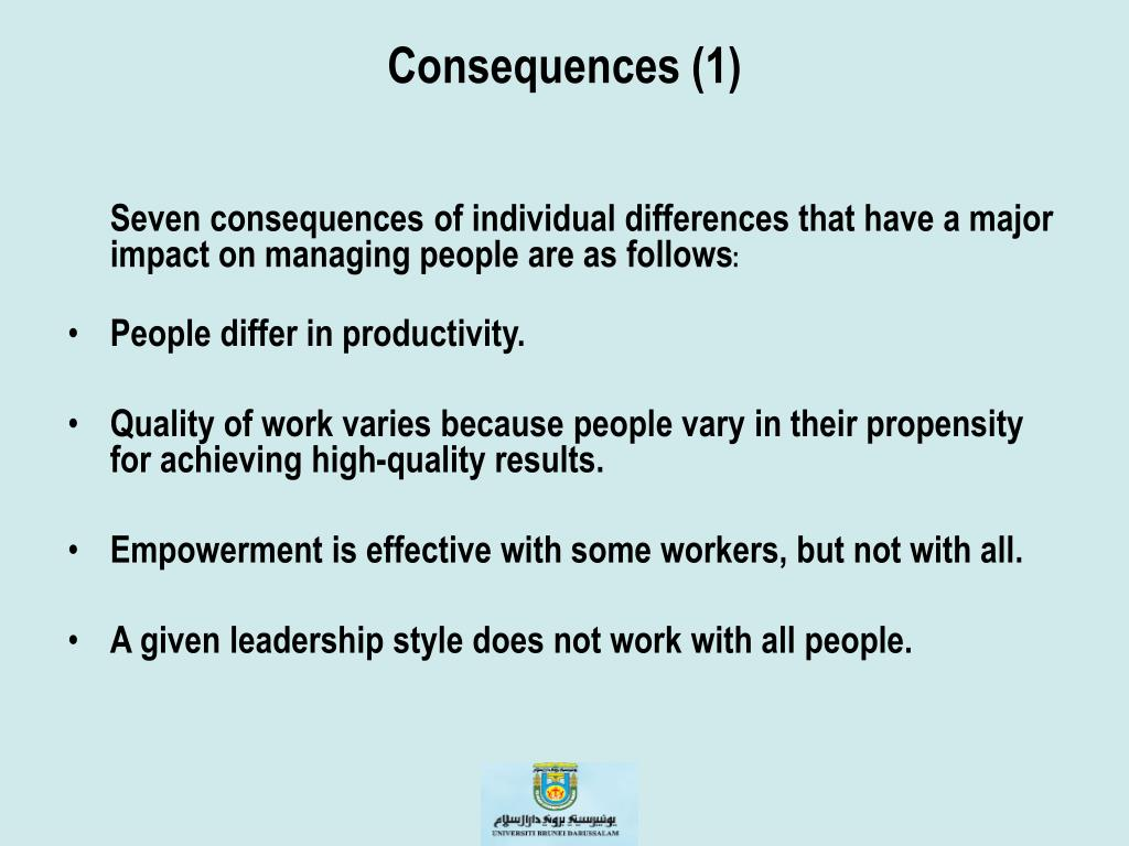personality and individual differences the effect Individual differences personality:  of conditioning that influences personality instrumental conditioning relies on the law of effect (postulated by.