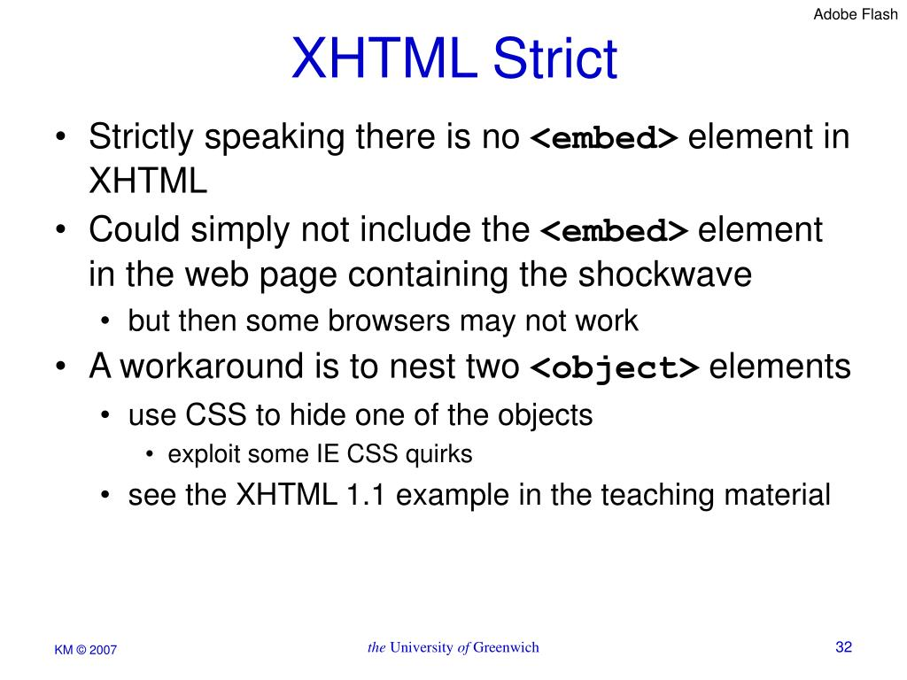XHTML Strict