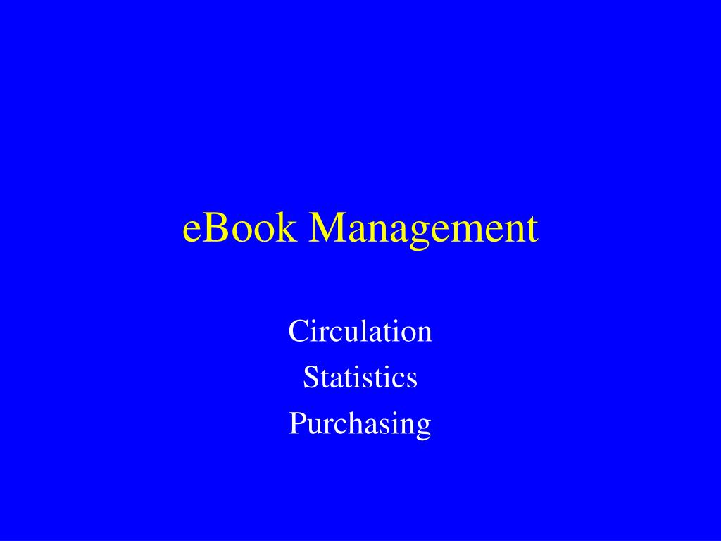 eBook Management