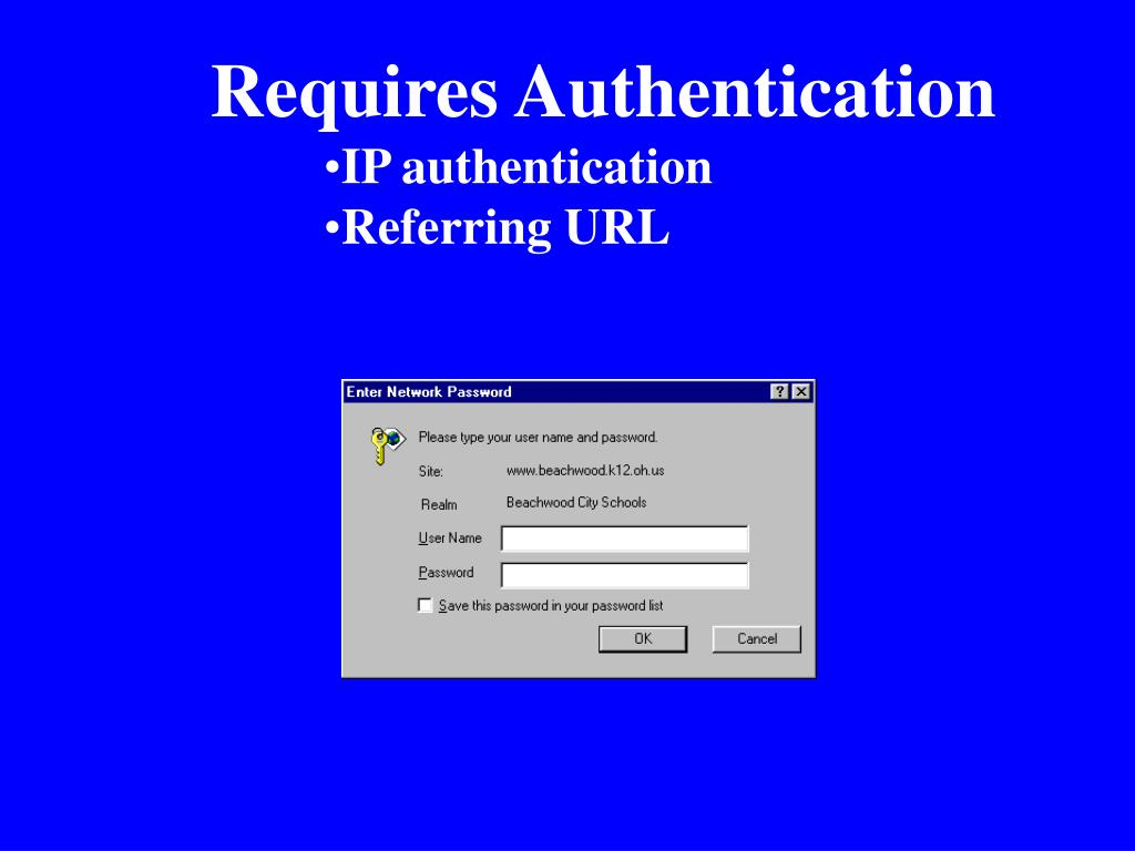 Requires Authentication