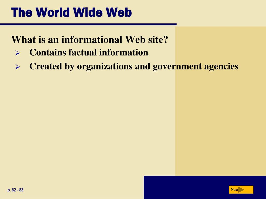 The World Wide Web