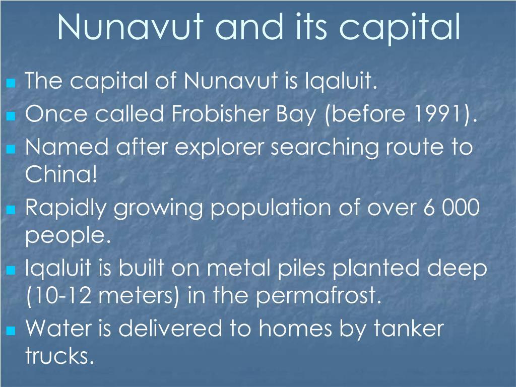 Nunavut and its capital