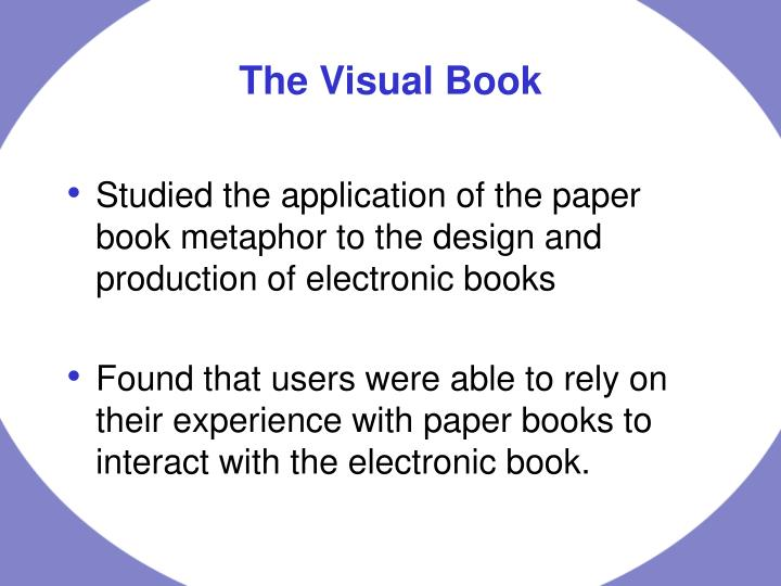 The visual book