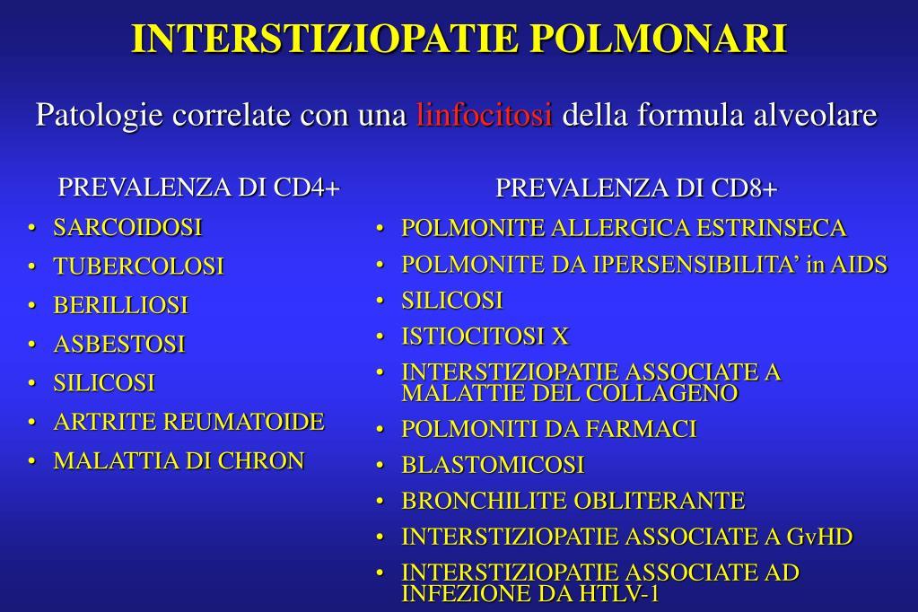 INTERSTIZIOPATIE POLMONARI