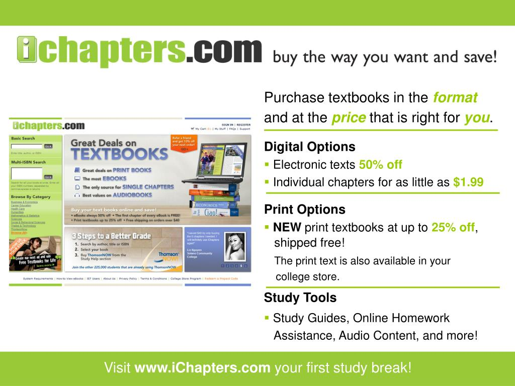 Purchase textbooks in the