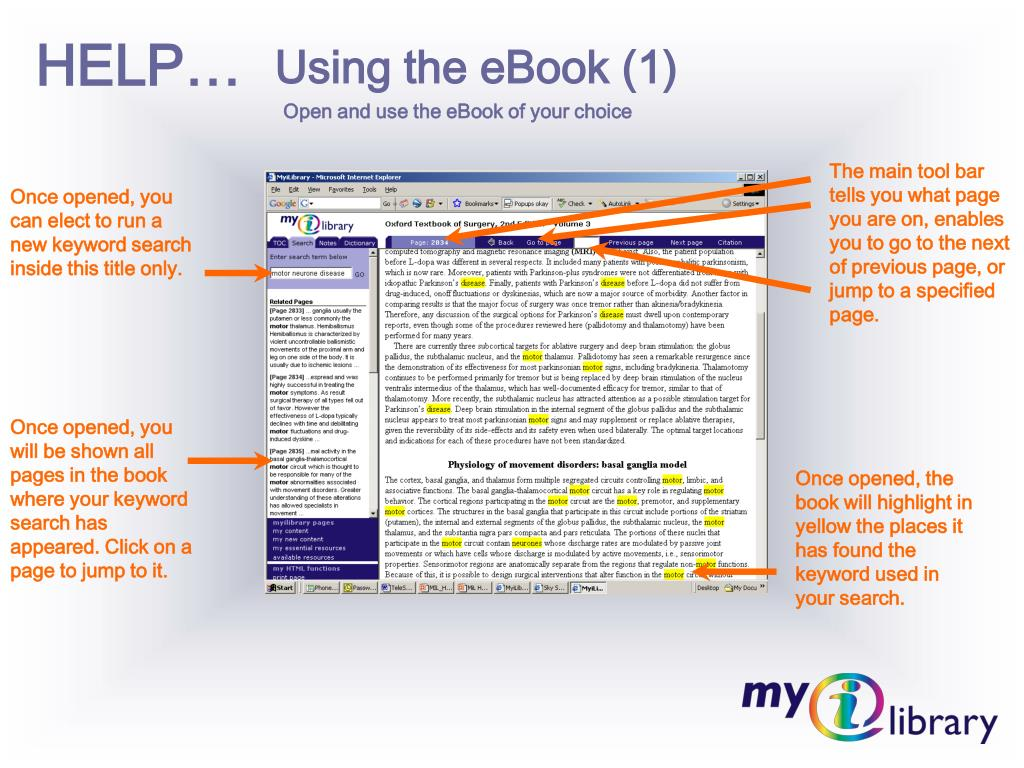 Using the eBook (1)