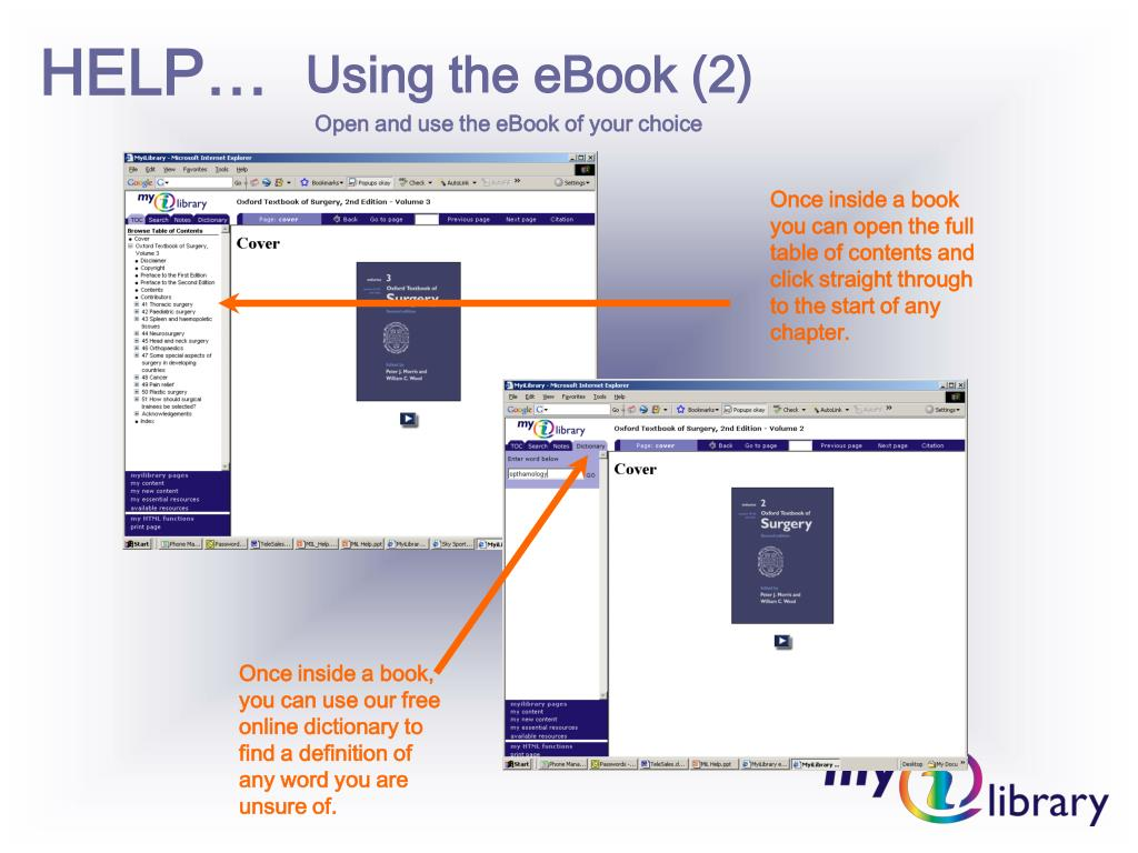 Using the eBook (2)