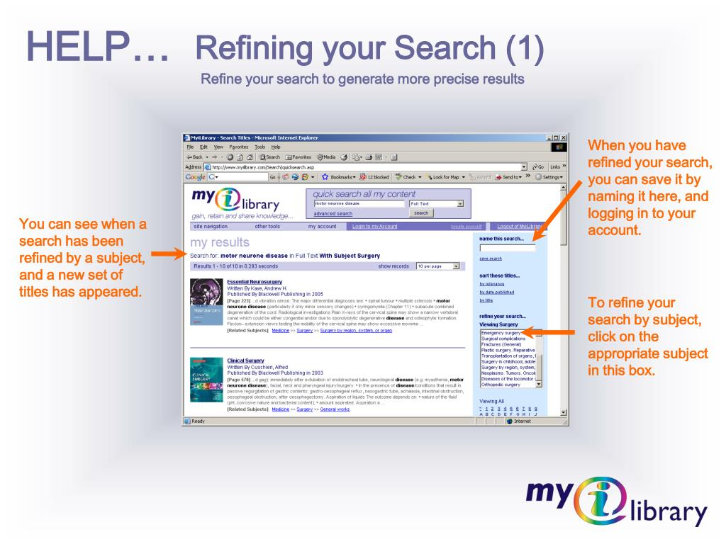 Refining your Search (1)