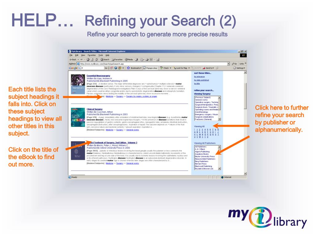 Refining your Search (2)
