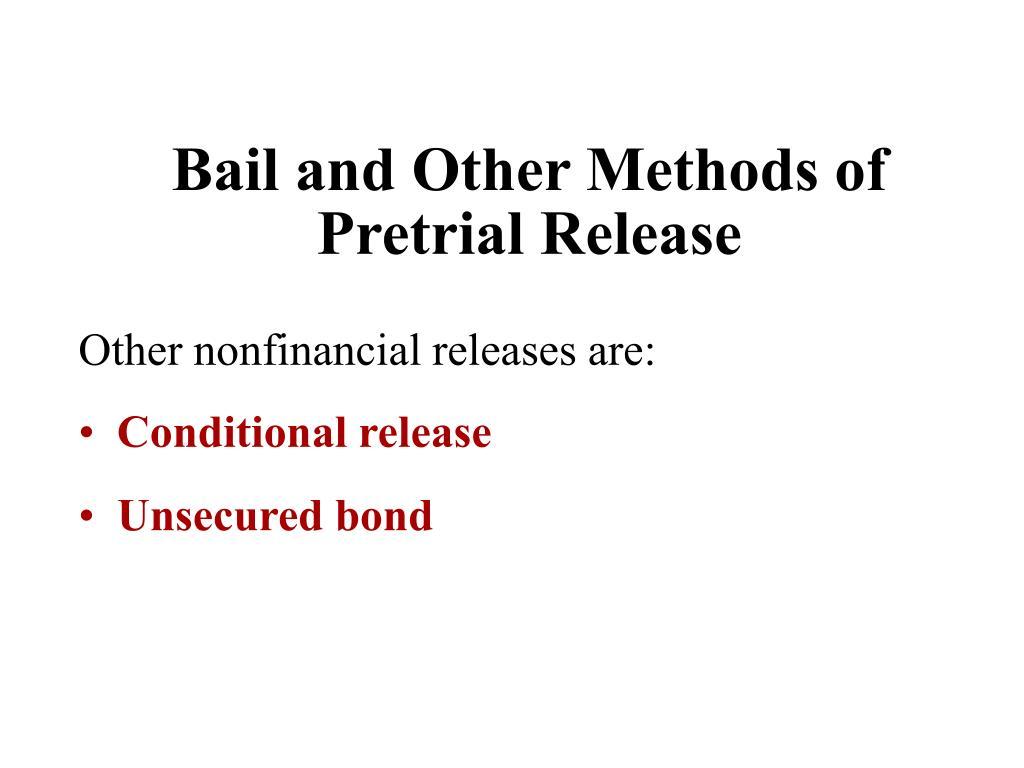 ... Bond Release Form
