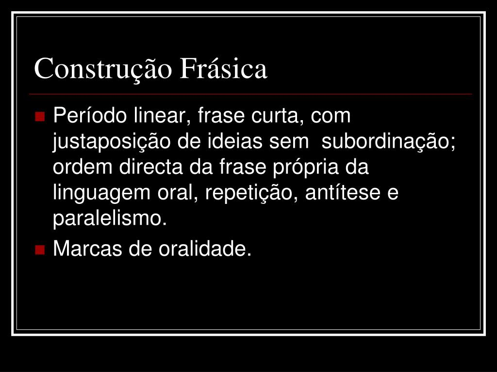 Construção Frásica