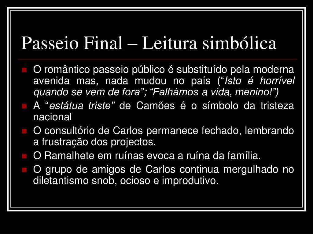 Passeio Final – Leitura simbólica