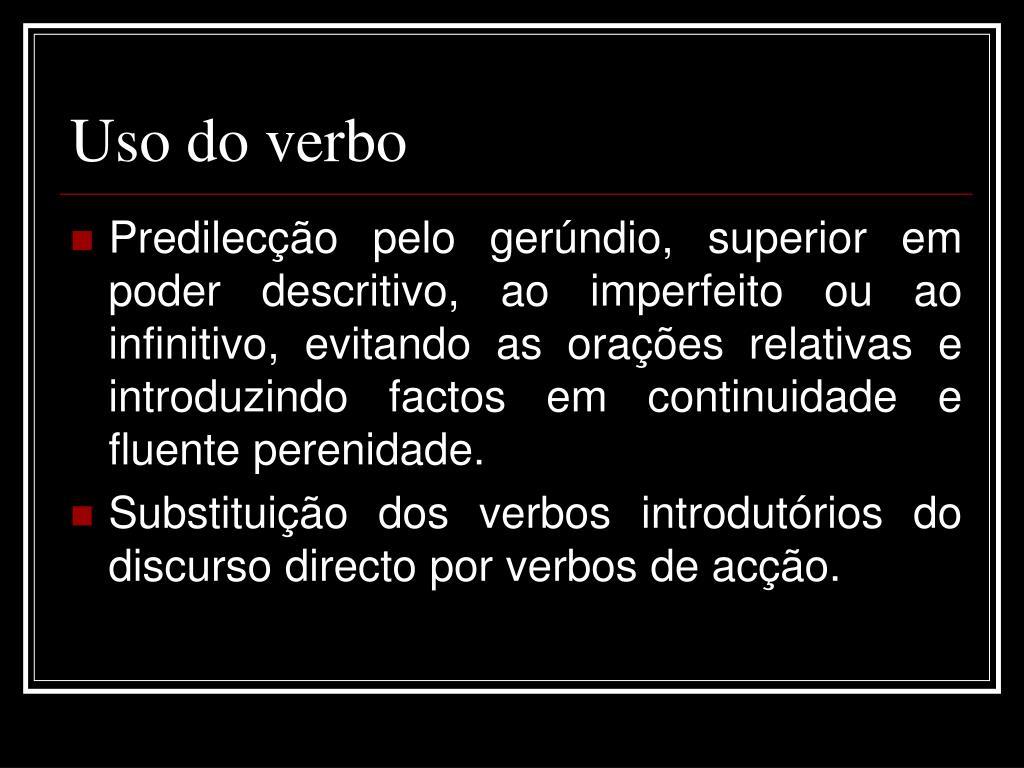 Uso do verbo