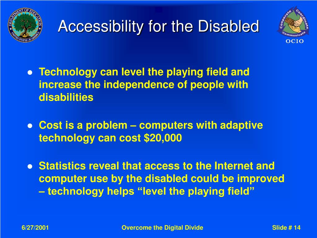Accessibility for the Disabled