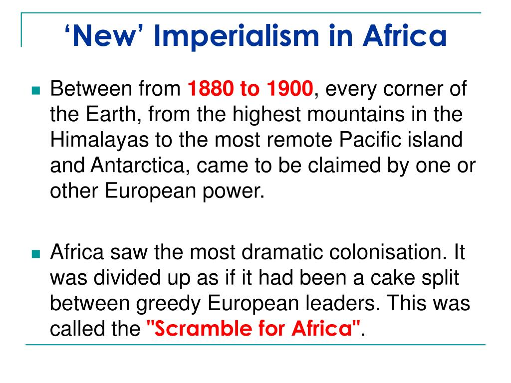 'New' Imperialism in Africa