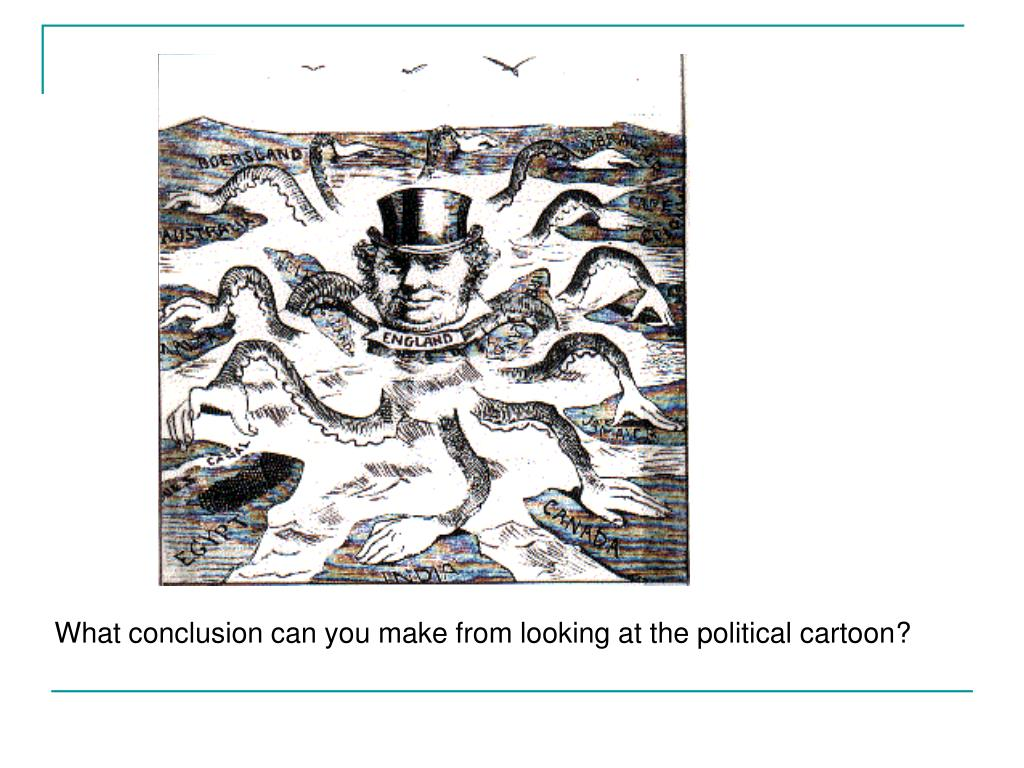 What conclusion can you make from looking at the political cartoon