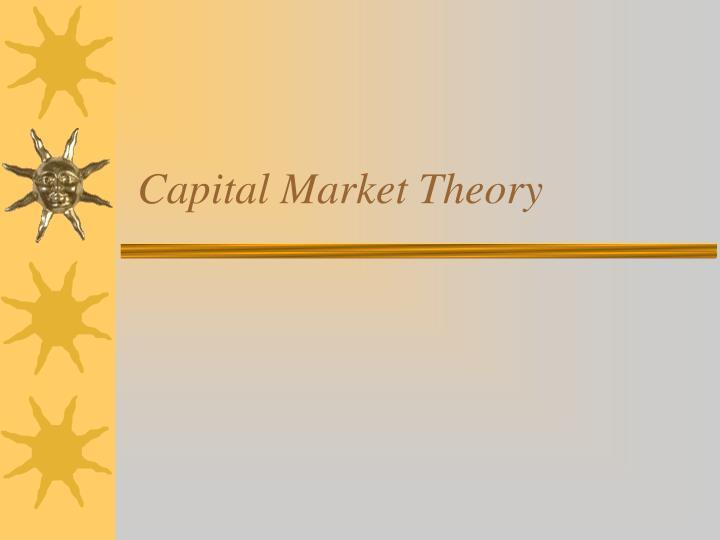 CA SFM Capital Markets Theory Notes