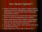 how hackers operate