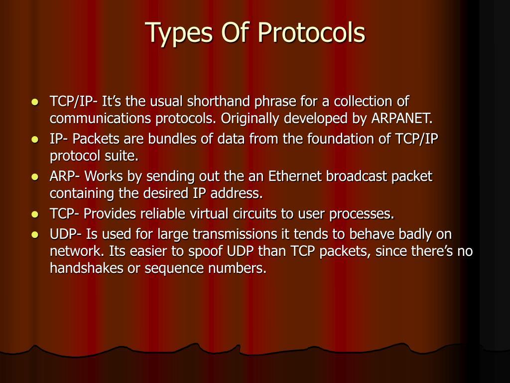 Types Of Protocols