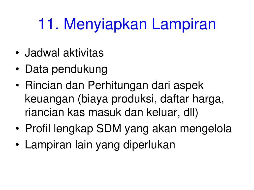 11. Menyiapkan Lampiran