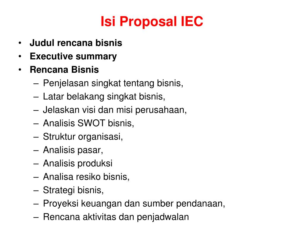 Isi Proposal IEC