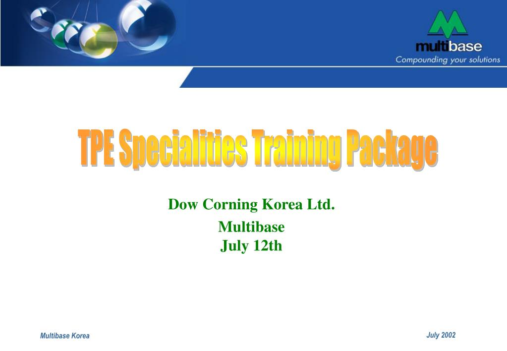 TPE Specialities Training Package