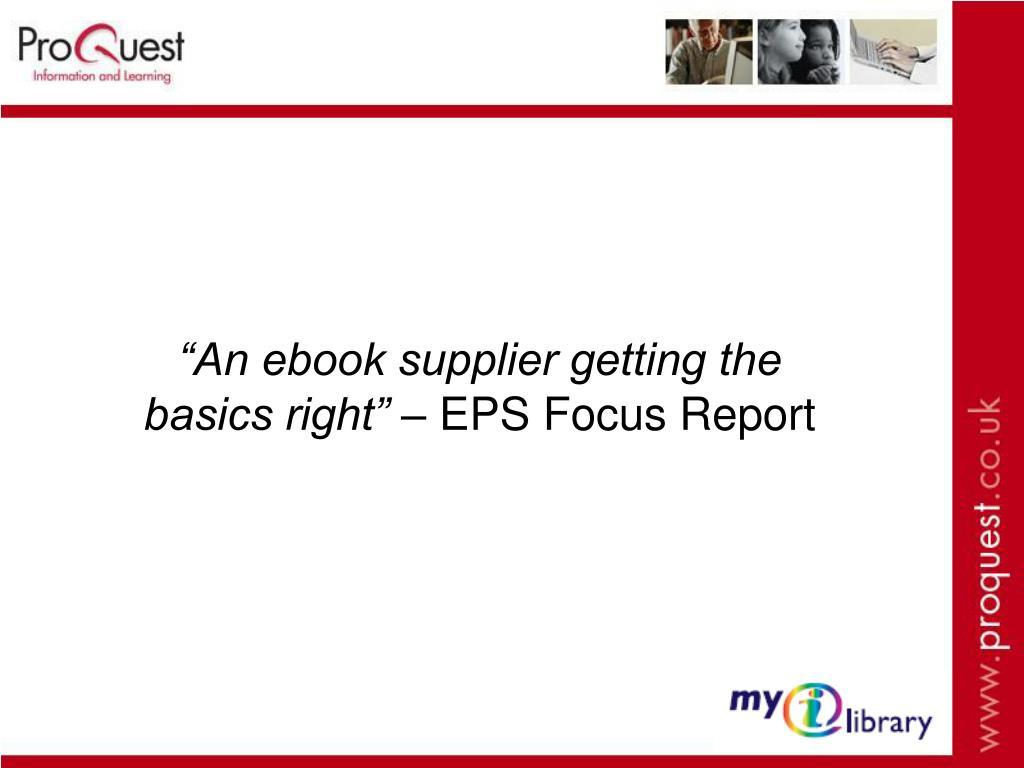 """An ebook supplier getting the basics right"" –"