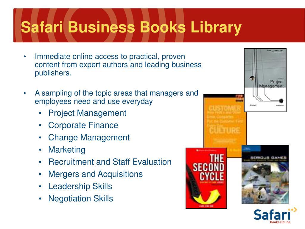 Safari Business Books Library