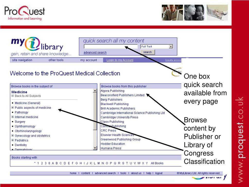 One box quick search available from every page