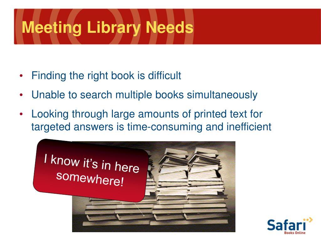 Meeting Library Needs