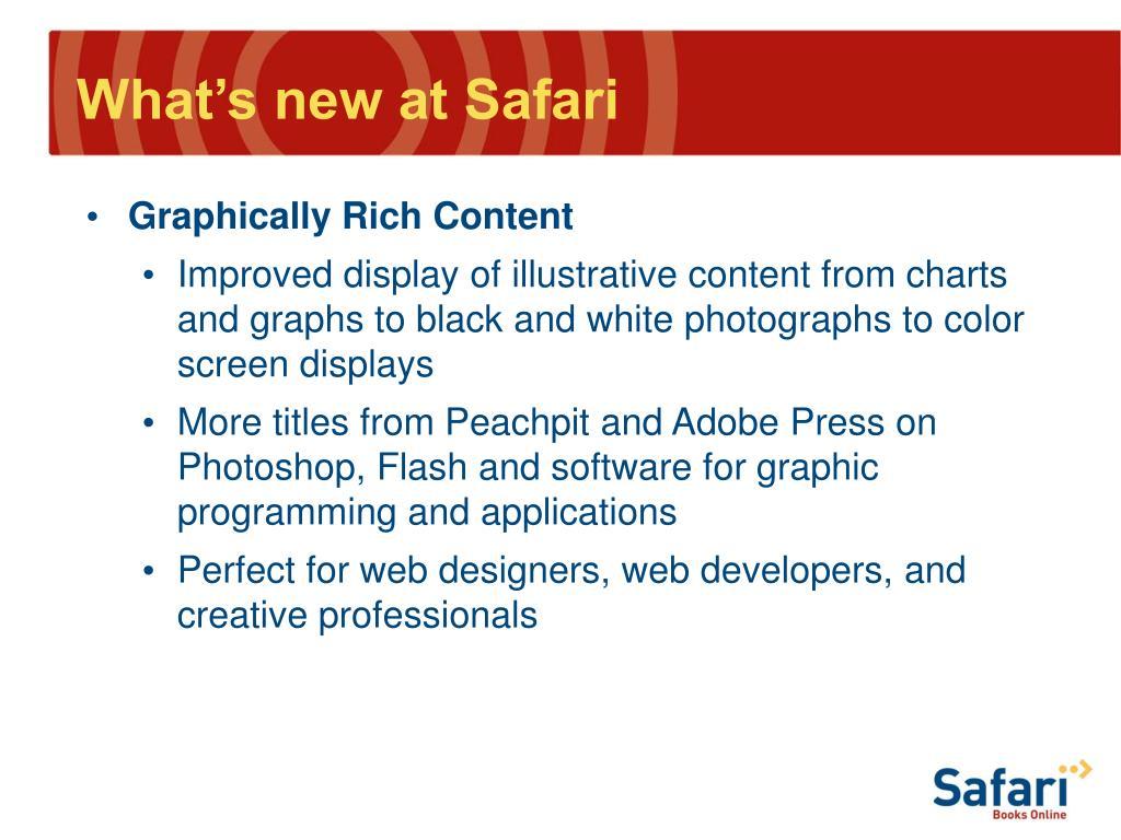 What's new at Safari