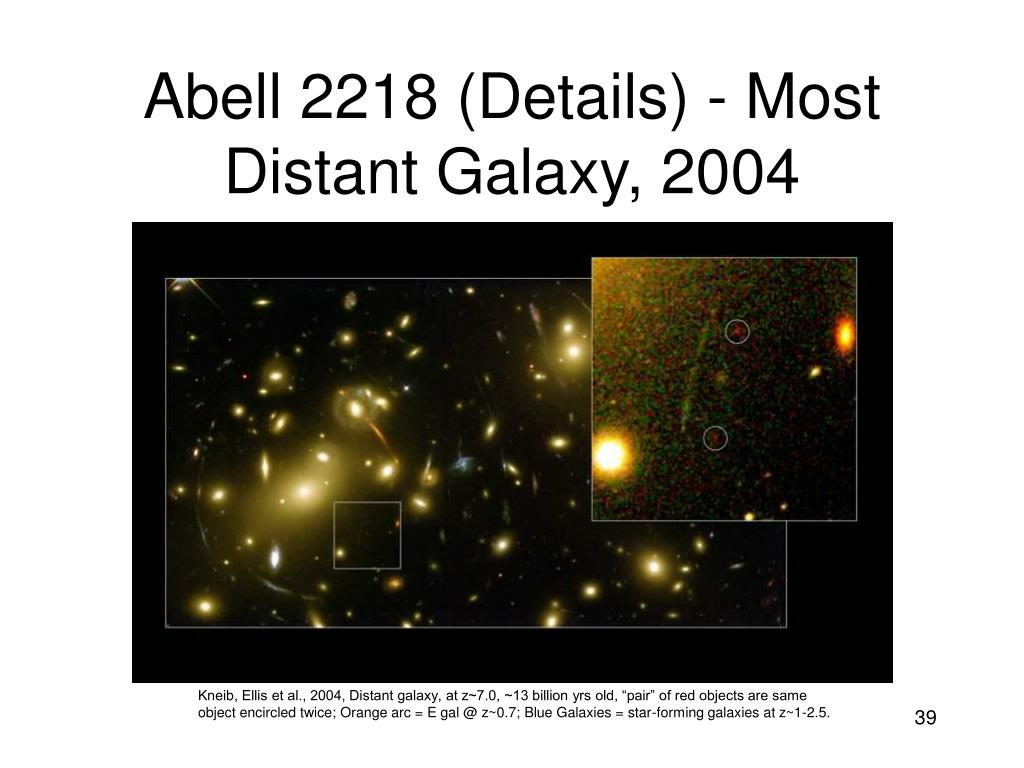 Abell 2218 (Details) - Most Distant Galaxy, 2004