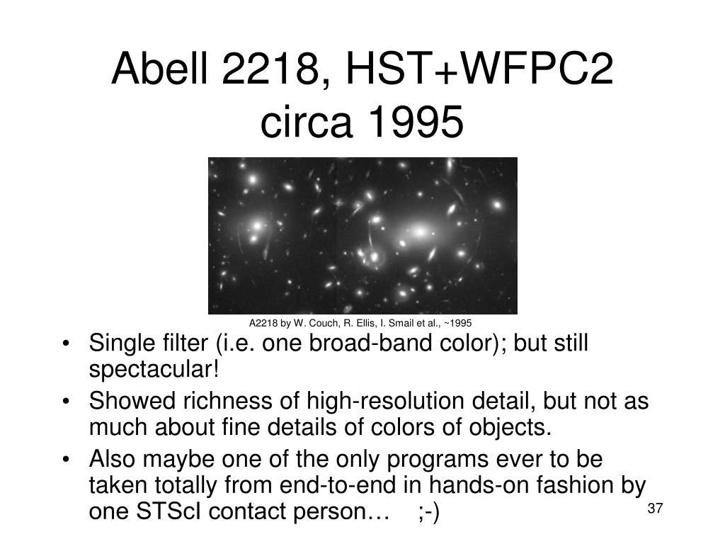 Abell 2218, HST+WFPC2  circa 1995
