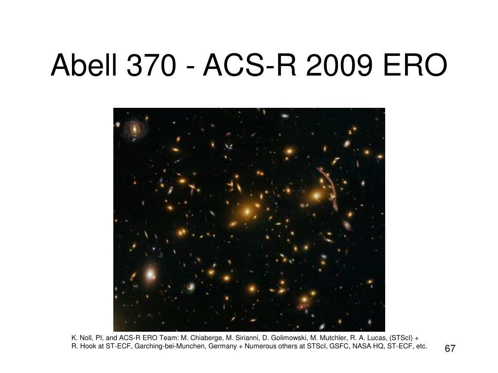 Abell 370 - ACS-R 2009 ERO