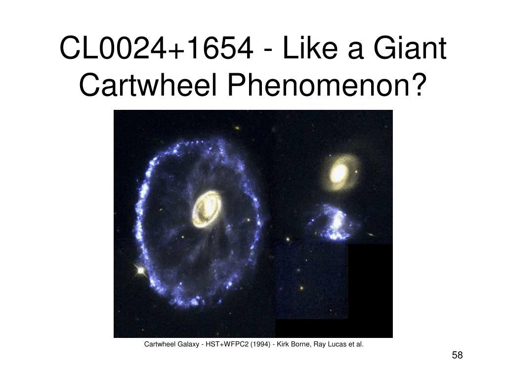 CL0024+1654 - Like a Giant Cartwheel Phenomenon?