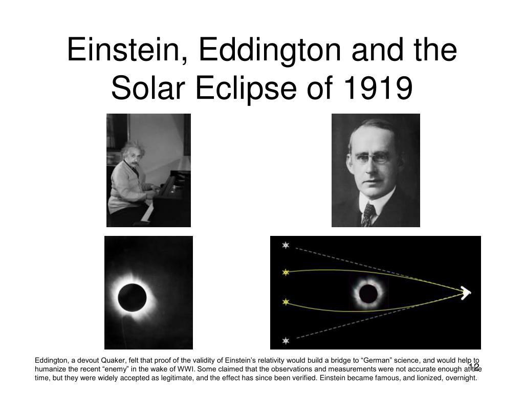 Einstein, Eddington and the Solar Eclipse of 1919