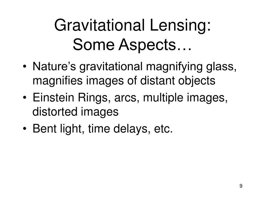 Gravitational Lensing: