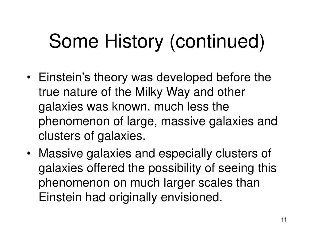 Some History (continued)