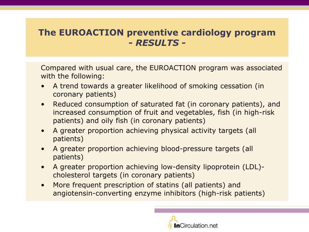 The EUROACTION preventive cardiology program