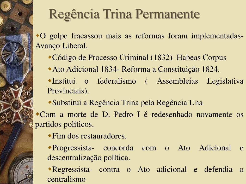Regência Trina Permanente