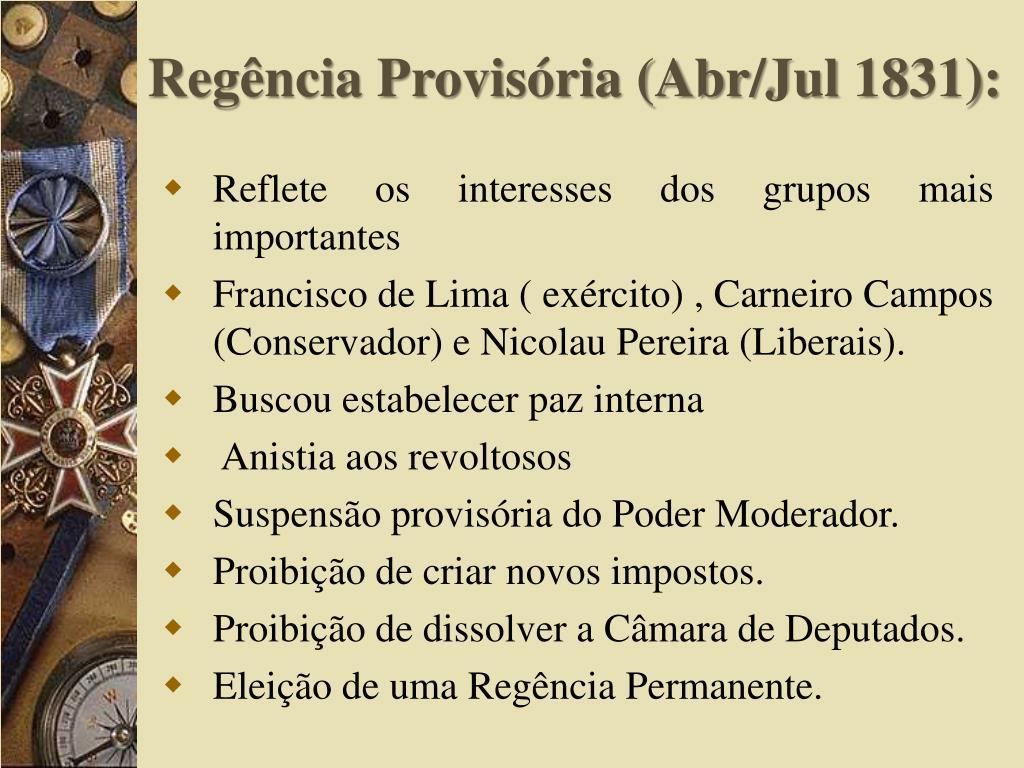 Regência Provisória (Abr/
