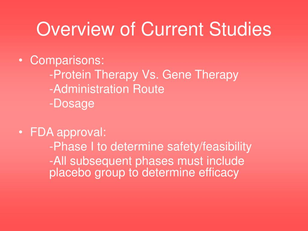Overview of Current Studies