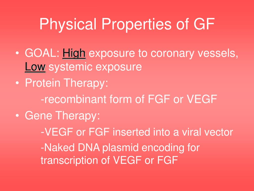 Physical Properties of GF