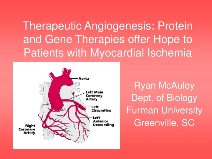 Therapeutic angiogenesis protein and gene therapies offer hope to patients with myocardial ischemia