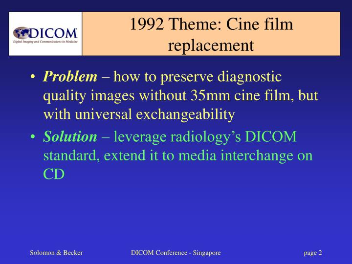 1992 theme cine film replacement